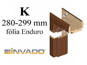 INVADO obložková nastaviteľná zárubňa, pre hrúbku steny 280 - 299 mm, fólia Enduro