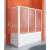 Aquatek ROYAL VF1 vaňová zástena 75/140, rám biely, sklo krilex voda (17)