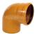 PVC kanalizačné 110 koleno KGB 110/87°, vr. tesnenia