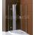 Sapho LEGRO štvrťkruhová sprchová zástena 900x900mm, číre sklo