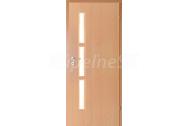 INVADO SET dvere CAPRIO 1 presklené 90cm, pravé, fólia Buk +zárubeň 140-150cm +kľučka