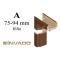 INVADO obložková nastaviteľná zárubňa, pre hrúbku steny 75 - 94 mm, fólia Enduro