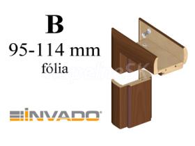 INVADO obložková nastaviteľná zárubňa, pre hrúbku steny 95 - 114 mm, fólia Enduro