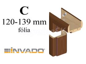 INVADO obložková nastaviteľná zárubňa, pre hrúbku steny 120 - 139 mm, fólia Enduro