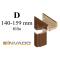 INVADO obložková nastaviteľná zárubňa, pre hrúbku steny 140 - 159 mm, fólia Enduro
