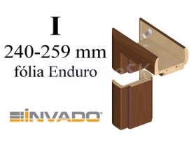 INVADO obložková nastaviteľná zárubňa, pre hrúbku steny 240 - 259 mm, fólia Enduro
