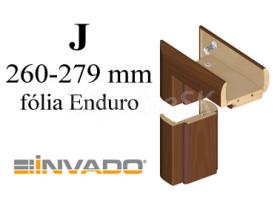 INVADO obložková nastaviteľná zárubňa, pre hrúbku steny 260 - 279 mm, fólia Enduro