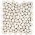 APE PEBBLES STONE WHITE 35X35 matná dlažba 14mm