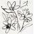APE DECOR SET(3) ALEGRE WHITE 20X60 matný obklad 11mm dekor kvet