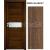 INVADO SET Rámové dvere SIENA 1 presklené, fólia,  Orech klasický B597 + zárubeň