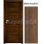 INVADO SET Rámové dvere SIENA 2 plné, fólia, Orech klasický B597 + zárubeň