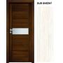 INVADO SET Rámové dvere SIENA 1 presklené, fólia, Dub Snežný B596 + zárubeň