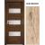 INVADO SET Rámové dvere SIENA 3 presklené laminátové, farba Dub prírodný +zárubeň +kľučka