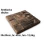 JAPE Sedliacka dlažba 39x39x4cm, betón-imitácia dreva, exteriér-mrazuvzdorná