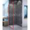SanSwiss ESCURA EST1 Bočná stena pre rohový kút, 75x200cm, ALUchróm, sklo Číre