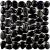 Ceramstic MOZAIKA RIEČNY KAMEŇ BLACK dlažba dekor 30x30, mrazuvzdorná
