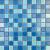 Ceramstic MOZAIKOVÉ SKLO Flat Blue MS-05 obklad dekor 30,5x30,5