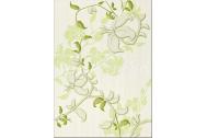 Cersanit ELISA dekor GREEN INSERTO FLOWER 25X35