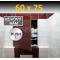 ZAVRZ Revízne dvierka š x v 60x75 cm s PUSH systémom, Kovový rám, ĽAVÉ