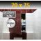 ZAVRZ Revízne dvierka š x v 70x75 cm s PUSH systémom, Kovový rám, ĽAVÉ