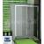 SanSwiss Top-Line TOPS2 Posuvné dvere do niky s pevn.st. 1600x1900 Aluchróm/Línia