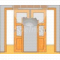 JAP stavebné puzdro 720 - NORMA UNIBOX pre 80cm dvere U720-080 pre sadrokartón, Pravé