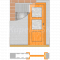 JAP stavebné puzdro 705 - NORMA STANDARD pre 80cm dvere k obmurovaniu+Tichý doraz