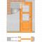 JAP stavebné puzdro 705 - NORMA STANDARD pre 90cm dvere pre sadrokartón+Tichý doraz