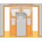 JAP stavebné puzdro 720 - NORMA UNIBOX pre 90cm dvere U720-090 pre sadrokartón, Ľavé