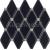 Tubadzin ABISSO Navy 29,8x27 obklad-mozaika lesklá