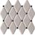Tubadzin ABISSO Grey 29,8x27 obklad-mozaika lesklá