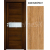 INVADO SET Rámové dvere SIENA 1 presklené laminát, 3D fólia Dub európskyB639 +zárub+kľučka