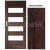 PerfectDoor interiérové rámové dvere BRYTANIA.1, Sklo, CPL Wenge Modern