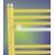 Madlo k rebríkovému radiátoru rovnému, BN750, biele