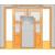 JAP stavebné puzdro 720 - NORMA UNIBOX pre 100cm dvere U720-100 k obmurovaniu, Pravé