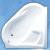 Roltechnik SAMANTHA akrylátová rohová vaňa, ľavá 157x157cm/280L