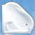Roltechnik SAMANTHA akrylátová rohová vaňa, pravá 157x157cm/280L