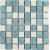 APE MOSAICO FUNNY MIX BLANCO-TURQUESA 20X20 lesklý obklad 8mm mozaika