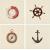 APE DECOR SET(4) MARINE MARFIL 20X20 lesklý obklad 7mm dekor