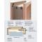 Masonite č.8 zárubňa obložková, rozmer ostenia 80-90mm, Biela, Biela