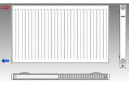 KORAD radiátor panelový bočné pripojenie 20K 300X0600