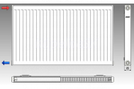 KORAD radiátor panelový bočné pripojenie 20K 900X0900