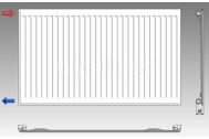 KORAD radiátor panelový bočné pripojenie 10K 600X1400
