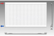 KORAD radiátor panelový bočné pripojenie 10K 300X0900