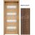 INVADO SET Rámové dvere MILANO 1 presklené, fólia, Orech Klasický B597 + zárubeň