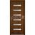 INVADO SET Rámové dvere VIRGO 1 presklené, Enduro 3D fólia Orech Klasický +zárubeň+kľučka