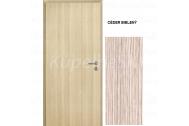 INVADO Protipožiarne dvere IGNIS EI 30 plné 80cm,Enduro Plus fólia Céder Bielený, PZ zámok