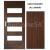 PerfectDoor interiérové rámové dvere BRYTANIA.1, Sklo, CPL Orech Modern