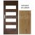 PerfectDoor interiérové rámové dvere BRYTANIA.1, Sklo, CPL Dub Klasik