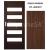 PerfectDoor interiérové rámové dvere ALFA 1, Sklo, CPL Orech Modern